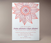 trishna letterpress invitation