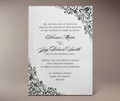 zena letterpress invitation