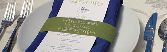 wedding day items - menus, programs, etc.