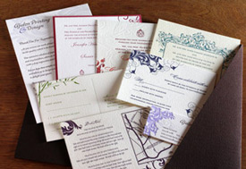 Letterpress Wedding Invitation Samples