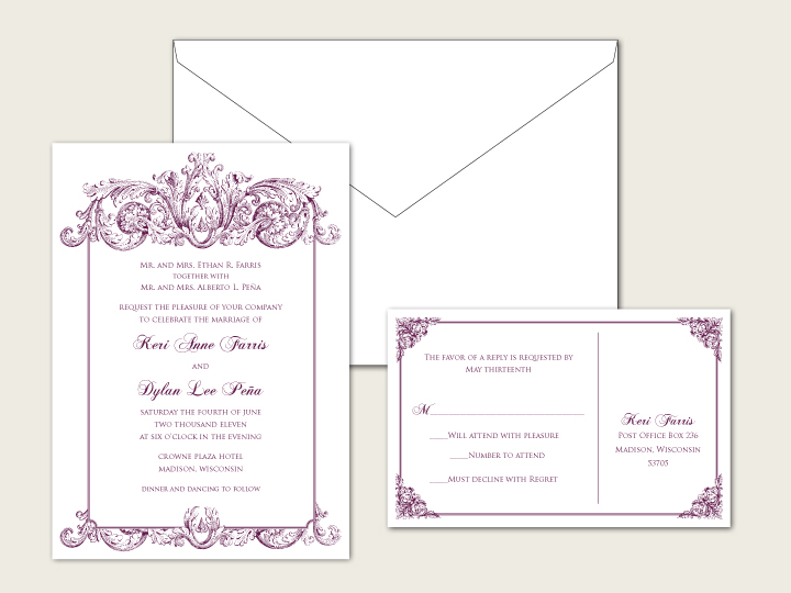 Letterpress Invitations Online with adorable invitations sample