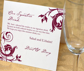 Wedding Reception Signature Drink Signs