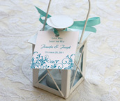 Letterpress Wedding Reception Favor Tags