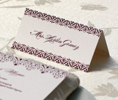 wedding dinner, place cards, reception place cards