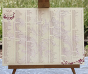 Wedding Reception Table Seating Charts