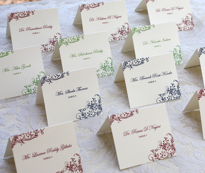 Escort Cards For Fall Wedding Receptions Letterpress Wedding
