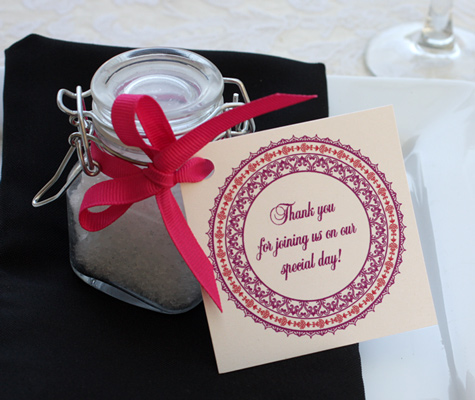 custom wedding favor tag