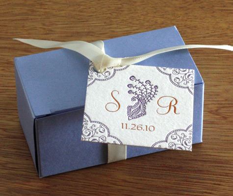 blue rectangle favor box
