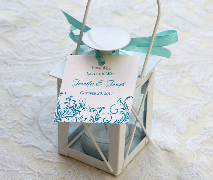 Gift For Wedding Guests Thank You: Wedding Reception Favor Tags