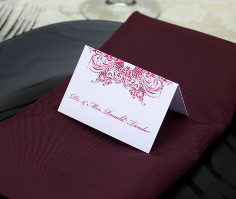 flat place cards for wedding receptions