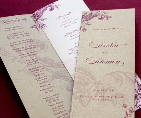 Day of Wedding Stationery Programs Ceremony Programs for Wedding