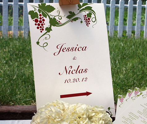 Wedding Reception Signs To Guide The Way