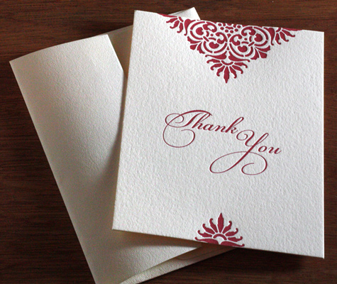 Thank You Cards for Winter Weddings Photo