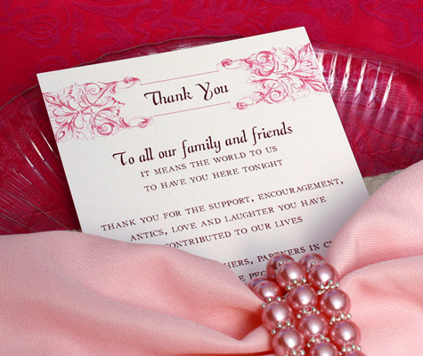 Message To Put On A Wedding Gift : Wedding Thank You Message Wording letterpress wedding invitation ...